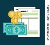 icon invoice design | Shutterstock .eps vector #504348358