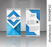 roll up banner stand  template... | Shutterstock .eps vector #504348910