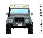 khaki offroad car truck 4x4 | Shutterstock .eps vector #504349720