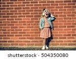 fashionista girl child adorable ... | Shutterstock . vector #504350080
