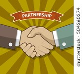 businessman handshake... | Shutterstock .eps vector #504360274