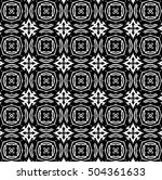 ornament with elements of black ... | Shutterstock . vector #504361633