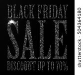 black friday sale black tag ... | Shutterstock .eps vector #504364180