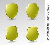 four protection shield concept. ... | Shutterstock .eps vector #504367630