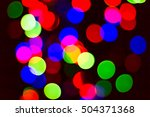 bokeh many colors  background... | Shutterstock . vector #504371368