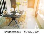 modern dining room interior... | Shutterstock . vector #504372124