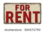 for rent vintage rusty metal... | Shutterstock .eps vector #504372790