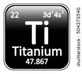 periodic table element titanium ... | Shutterstock .eps vector #504373540
