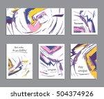 set of creative universal cards ... | Shutterstock .eps vector #504374926