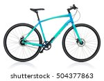 new blue bicycle isolated on a... | Shutterstock . vector #504377863