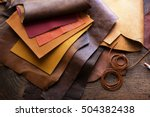 leather craft or leather... | Shutterstock . vector #504382438