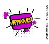 comic text approved sound... | Shutterstock .eps vector #504387229