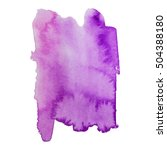 Watercolor Stain Banner Purple...