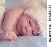 little newborn baby | Shutterstock . vector #504388786