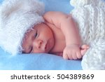 little newborn baby | Shutterstock . vector #504389869