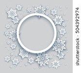 round christmas frame | Shutterstock .eps vector #504392974