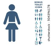 lady icon and bonus man and... | Shutterstock .eps vector #504396178