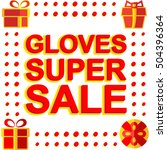 big winter sale poster with... | Shutterstock .eps vector #504396364