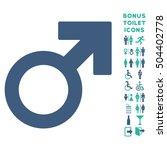 mars symbol icon and bonus man... | Shutterstock .eps vector #504402778