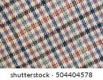 woolen textile   brown... | Shutterstock . vector #504404578