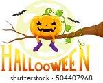for halloween   funny pumpkins...   Shutterstock . vector #504407968