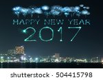 2017 happy new year fireworks... | Shutterstock . vector #504415798