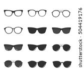 set of glasses and sunglasses...   Shutterstock .eps vector #504419176
