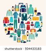 vector set icon of fashion... | Shutterstock .eps vector #504433183