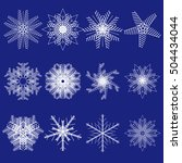 set of snowflakes. collection... | Shutterstock .eps vector #504434044