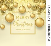 merry christmas and happy new... | Shutterstock .eps vector #504434494