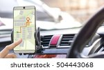 gps mobile phone and... | Shutterstock . vector #504443068