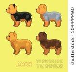 dog yorkshire terrier coloring... | Shutterstock .eps vector #504444460