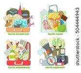 travel concepts set. flat... | Shutterstock . vector #504444943