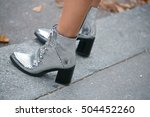street style shoes | Shutterstock . vector #504452260