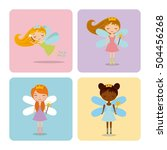 cute little fairy character... | Shutterstock .eps vector #504456268