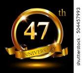 47th golden anniversary logo ... | Shutterstock .eps vector #504457993