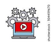media player flat icon vector... | Shutterstock .eps vector #504459670