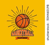 basketball league emblem... | Shutterstock .eps vector #504460198