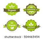 organic food badges collection... | Shutterstock .eps vector #504465454