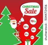 christmas sale banner design.... | Shutterstock .eps vector #504472456