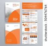 page layout for company profile ... | Shutterstock .eps vector #504476764