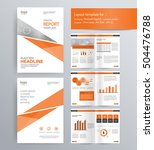 page layout for company profile ... | Shutterstock .eps vector #504476788