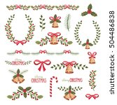 watercolor christmas... | Shutterstock . vector #504486838