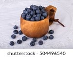 piles of blueberries in kuksa... | Shutterstock . vector #504496540