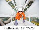 oil and gas industry worker... | Shutterstock . vector #504499768