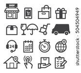 delivery icons | Shutterstock .eps vector #504504949