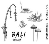 bali sketch. penjor for... | Shutterstock .eps vector #504513778