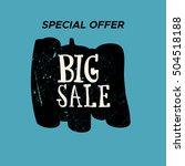 grunge color design big sale... | Shutterstock .eps vector #504518188