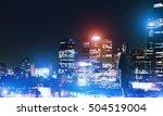 rear view of elegant... | Shutterstock . vector #504519004