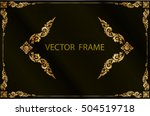 gold photo frame with corner... | Shutterstock .eps vector #504519718